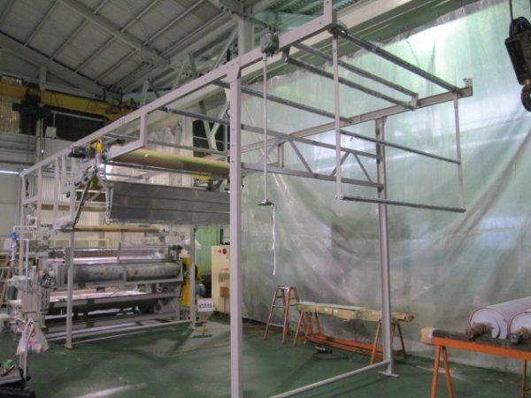 綿織物の風合い加工(防縮機)