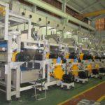 綿織物、合繊織物のプリント後の洗浄